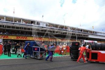 World © Octane Photographic Ltd. Formula 1 – Spanish GP - Grid. Scuderia Toro Rosso STR13 grid crew. Circuit de Barcelona-Catalunya, Spain. Sunday 13th May 2018.