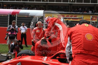 World © Octane Photographic Ltd. Formula 1 – Spanish GP - Grid. Scuderia Ferrari SF71-H – Kimi Raikkonen. Circuit de Barcelona-Catalunya, Spain. Sunday 13th May 2018.