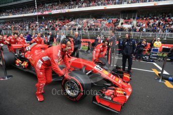 World © Octane Photographic Ltd. Formula 1 – Spanish GP - Grid. Scuderia Ferrari SF71-H – Sebastian Vettel. Circuit de Barcelona-Catalunya, Spain. Sunday 13th May 2018.