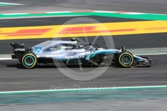 World © Octane Photographic Ltd. Formula 1 – Spanish GP - Practice 1. Mercedes AMG Petronas Motorsport AMG F1 W09 EQ Power+ - Valtteri Bottas. Circuit de Barcelona-Catalunya, Spain. Friday 11th May 2018.