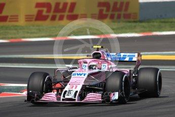 World © Octane Photographic Ltd. Formula 1 – Spanish GP - Practice 1. Sahara Force India VJM11 - Esteban Ocon. Circuit de Barcelona-Catalunya, Spain. Friday 11th May 2018.