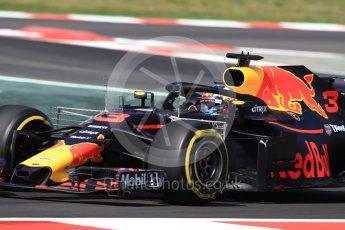 World © Octane Photographic Ltd. Formula 1 – Spanish GP - Practice 1. Aston Martin Red Bull Racing TAG Heuer RB14 – Daniel Ricciardo. Circuit de Barcelona-Catalunya, Spain. Friday 11th May 2018.