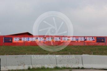 World © Octane Photographic Ltd. Formula 1 – Spanish GP - Saturday - Practice 3. Aston Martin Red Bull Racing TAG Heuer fans. Circuit de Barcelona-Catalunya, Spain. Saturday 12th May 2018.