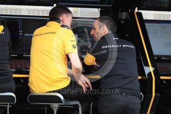 World © Octane Photographic Ltd. Formula 1 - Spanish GP - Saturday Practice 3. Cyril Abiteboul - Managing Director of Renault Sport Racing Formula 1 Team. Circuit de Barcelona-Catalunya, Spain. Saturday 12th May 2018.
