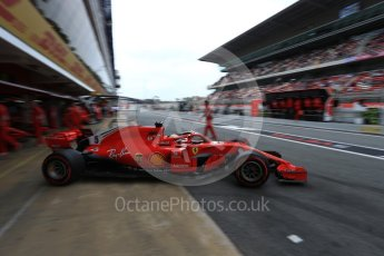 World © Octane Photographic Ltd. Formula 1 – Spanish GP - Saturday - Practice 3. Scuderia Ferrari SF71-H – Sebastian Vettel. Circuit de Barcelona-Catalunya, Spain. Saturday 12th May 2018.