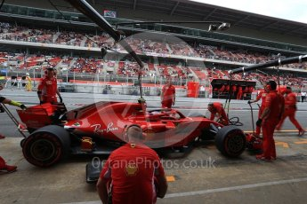 World © Octane Photographic Ltd. Formula 1 – Spanish GP - Saturday - Practice 3. Scuderia Ferrari SF71-H – Kimi Raikkonen. Circuit de Barcelona-Catalunya, Spain. Saturday 12th May 2018.