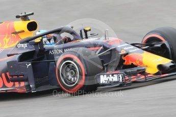 World © Octane Photographic Ltd. Formula 1 – Spanish GP - Saturday Qualifying. Aston Martin Red Bull Racing TAG Heuer RB14 – Daniel Ricciardo. Circuit de Barcelona-Catalunya, Spain. Saturday 12th May 2018.
