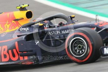 World © Octane Photographic Ltd. Formula 1 – Spanish GP - Saturday Qualifying. Aston Martin Red Bull Racing TAG Heuer RB14 – Max Verstappen. Circuit de Barcelona-Catalunya, Spain. Saturday 12th May 2018.