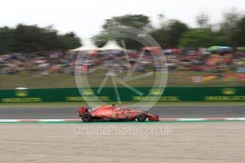 World © Octane Photographic Ltd. Formula 1 – Spanish GP - Saturday Qualifying. Scuderia Ferrari SF71-H – Sebastian Vettel. Circuit de Barcelona-Catalunya, Spain. Saturday 12th May 2018.