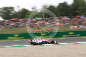 World © Octane Photographic Ltd. Formula 1 – Spanish GP - Saturday Qualifying. Sahara Force India VJM11 - Sergio Perez. Circuit de Barcelona-Catalunya, Spain. Saturday 12th May 2018.