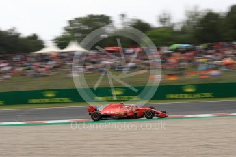 World © Octane Photographic Ltd. Formula 1 – Spanish GP - Saturday Qualifying. Scuderia Ferrari SF71-H – Kimi Raikkonen. Circuit de Barcelona-Catalunya, Spain. Saturday 12th May 2018.