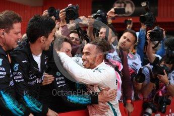 World © Octane Photographic Ltd. Formula 1 – Spanish GP - Sunday Parc Ferme. Mercedes AMG Petronas Motorsport AMG F1 W09 EQ Power+ - Lewis Hamilton. Circuit de Barcelona-Catalunya, Spain. Sunday 13th May 2018.