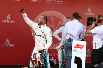 World © Octane Photographic Ltd. Formula 1 – Spanish GP - Sunday Paddock. Mercedes AMG Petronas Motorsport AMG F1 W09 EQ Power+ - Lewis Hamilton. Circuit de Barcelona-Catalunya, Spain. Sunday 13th May 2018.