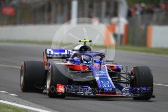 World © Octane Photographic Ltd. Formula 1 – Spanish GP - Race. Scuderia Toro Rosso STR13 – Pierre Gasly. Circuit de Barcelona-Catalunya, Spain. Sunday 13th May 2018.