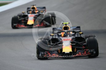 World © Octane Photographic Ltd. Formula 1 – Spanish GP - Race. Aston Martin Red Bull Racing TAG Heuer RB14 – Max Verstappen. Circuit de Barcelona-Catalunya, Spain. Sunday 13th May 2018.