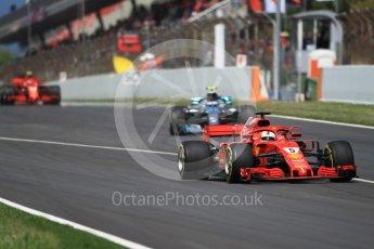 World © Octane Photographic Ltd. Formula 1 – Spanish GP - Race. Scuderia Ferrari SF71-H – Sebastian Vettel. Circuit de Barcelona-Catalunya, Spain. Sunday 13th May 2018.