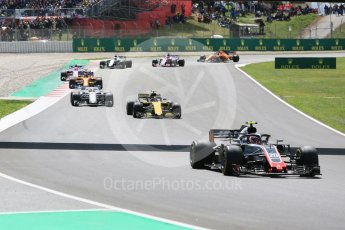 World © Octane Photographic Ltd. Formula 1 – Spanish GP - Race. Haas F1 Team VF-18 – Kevin Magnussen. Circuit de Barcelona-Catalunya, Spain. Sunday 13th May 2018.