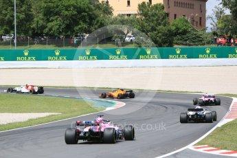 World © Octane Photographic Ltd. Formula 1 – Spanish GP - Race. Sahara Force India VJM11 - Sergio Perez. Circuit de Barcelona-Catalunya, Spain. Sunday 13th May 2018.