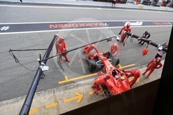 World © Octane Photographic Ltd. Formula 1 – Spanish GP - Race. Scuderia Ferrari SF71-H – Kimi Raikkonen retires. Circuit de Barcelona-Catalunya, Spain. Sunday 13th May 2018.