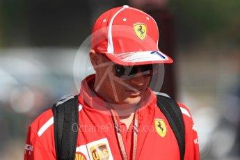 World © Octane Photographic Ltd. Formula 1 – Spanish GP - Paddock. Scuderia Ferrari SF71-H – Kimi Raikkonen. Circuit de Barcelona-Catalunya, Spain. Friday 11th May 2018.