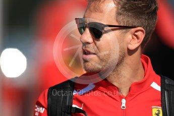 World © Octane Photographic Ltd. Formula 1 – Spanish GP - Paddock. Scuderia Ferrari SF71-H – Sebastian Vettel. Circuit de Barcelona-Catalunya, Spain. Friday 11th May 2018.