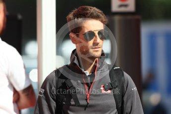 World © Octane Photographic Ltd. Formula 1 – Spanish GP - Paddock. Haas F1 Team VF-18 – Romain Grosjean. Circuit de Barcelona-Catalunya, Spain. Friday 11th May 2018.