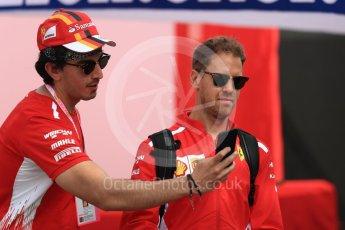 World © Octane Photographic Ltd. Formula 1 – Spanish GP - Saturday - Paddock. Scuderia Ferrari SF71-H – Sebastian Vettel. Circuit de Barcelona-Catalunya, Spain. Saturday 12th May 2018.