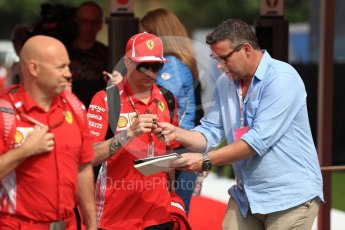 World © Octane Photographic Ltd. Formula 1 – Spanish GP - Saturday - Paddock. Scuderia Ferrari SF71-H – Kimi Raikkonen. Circuit de Barcelona-Catalunya, Spain. Saturday 12th May 2018.