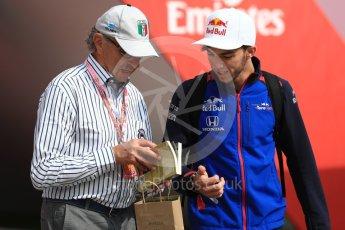 World © Octane Photographic Ltd. Formula 1 – Spanish GP - Saturday - Paddock. Scuderia Toro Rosso STR13 – Pierre Gasly. Circuit de Barcelona-Catalunya, Spain. Saturday 12th May 2018.