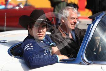 World © Octane Photographic Ltd. Formula 1 – United States GP - Drivers Parade. Williams Martini Racing FW41 – Lance Stroll. Circuit of the Americas (COTA), USA. Sunday 21st October 2018.