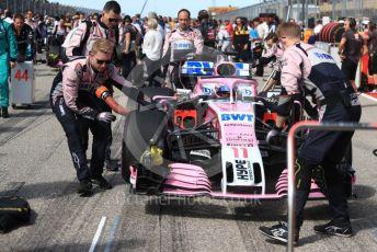World © Octane Photographic Ltd. Formula 1 – United States GP - Grid. Racing Point Force India VJM11 - Sergio Perez. Circuit of the Americas (COTA), USA. Sunday 21st October 2018.