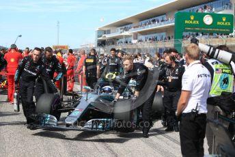 World © Octane Photographic Ltd. Formula 1 – United States GP - Grid. Mercedes AMG Petronas Motorsport AMG F1 W09 EQ Power+ - Valtteri Bottas. Circuit of the Americas (COTA), USA. Sunday 21st October 2018.