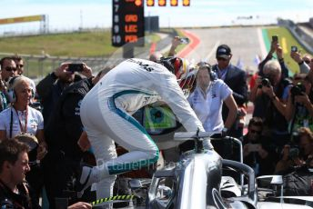 World © Octane Photographic Ltd. Formula 1 – United States GP – Grid. Mercedes AMG Petronas Motorsport AMG F1 W09 EQ Power+ - Lewis Hamilton. Circuit of the Americas (COTA), USA. Sunday 21st October 2018.