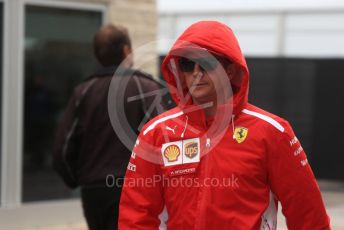 World © Octane Photographic Ltd. Formula 1 – United States GP - Paddock. Scuderia Ferrari SF71-H – Kimi Raikkonen. Circuit of the Americas (COTA), USA. Friday 19th October 2018.