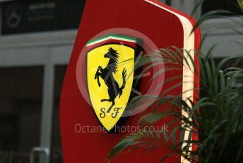 World © Octane Photographic Ltd. Formula 1 – United States GP - Paddock. Scuderia Ferrari logo. Circuit of the Americas (COTA), USA. Friday 19th October 2018.
