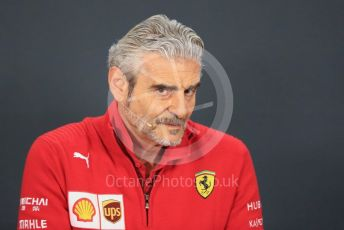 World © Octane Photographic Ltd. Formula 1 - United States GP – Friday FIA Team Press Conference. Maurizio Arrivabene – Managing Director and Team Principal of Scuderia Ferrari. Circuit of the Americas (COTA), USA. Friday 18th October 2018.