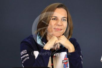 World © Octane Photographic Ltd. Formula 1 - United States GP - Friday FIA Team Press Conference. Claire Williams - Deputy Team Principal of Williams Martini Racing. Circuit of the Americas (COTA), USA. Thursday Friday 18th October 2018.