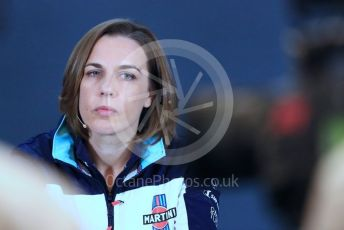 World © Octane Photographic Ltd. Formula 1 - United States GP - Friday FIA Team Press Conference. Claire Williams - Deputy Team Principal of Williams Martini Racing. Circuit of the Americas (COTA), USA. Friday 18th October 2018.