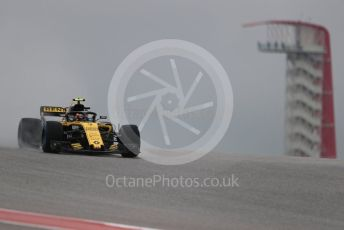 World © Octane Photographic Ltd. Formula 1 – United States GP - Practice 1. Renault Sport F1 Team RS18 – Carlos Sainz. Circuit of the Americas (COTA), USA. Friday 19th October 2018.