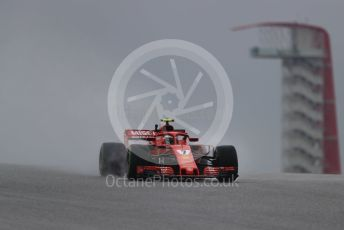 World © Octane Photographic Ltd. Formula 1 – United States GP - Practice 1. Scuderia Ferrari SF71-H – Kimi Raikkonen. Circuit of the Americas (COTA), USA. Friday 19th October 2018.