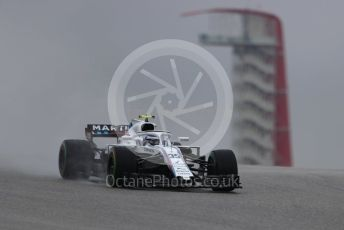 World © Octane Photographic Ltd. Formula 1 – United States GP - Practice 1. Williams Martini Racing FW41 – Sergey Sirotkin. Circuit of the Americas (COTA), USA. Friday 19th October 2018.