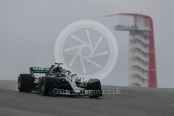 World © Octane Photographic Ltd. Formula 1 – United States GP – Practice 1. Mercedes AMG Petronas Motorsport AMG F1 W09 EQ Power+ - Lewis Hamilton. Circuit of the Americas (COTA), USA. Friday 19th October 2018.