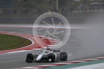 World © Octane Photographic Ltd. Formula 1 – United States GP - Practice 2. Alfa Romeo Sauber F1 Team C37 – Marcus Ericsson. Circuit of the Americas (COTA), USA. Friday 19th October 2018.