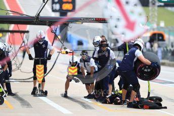 World © Octane Photographic Ltd. Formula 1 – United States GP - Practice 3. Williams Martini Racing pit crew. Circuit of the Americas (COTA), USA. Saturday 20th October 2018.