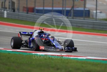 World © Octane Photographic Ltd. Formula 1 – United States GP - Qualifying. Scuderia Toro Rosso STR13 – Pierre Gasly. Circuit of the Americas (COTA), USA. Saturday 20th October 2018.