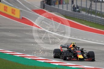 World © Octane Photographic Ltd. Formula 1 – United States GP - Qualifying. Aston Martin Red Bull Racing TAG Heuer RB14 – Max Verstappen. Circuit of the Americas (COTA), USA. Saturday 20th October 2018.