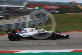 World © Octane Photographic Ltd. Formula 1 – United States GP - Qualifying. Williams Martini Racing FW41 – Lance Stroll. Circuit of the Americas (COTA), USA. Saturday 20th October 2018.