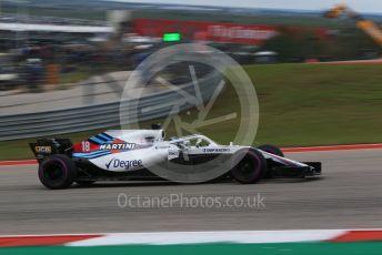 World © Octane Photographic Ltd. Formula 1 – United States GP - Qualifying. Williams Martini Racing FW41 – Lance Stroll. Circuit of the Americas (COTA), USA. Saturday 20th October 2018.