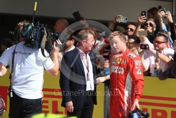 World © Octane Photographic Ltd. Formula 1 – United States GP - Podium. Scuderia Ferrari SF71-H – Kimi Raikkonen. Circuit of the Americas (COTA), USA. Sunday 21st October 2018.