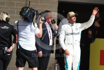 World © Octane Photographic Ltd. Formula 1 – United States GP – Race Podium. Mercedes AMG Petronas Motorsport AMG F1 W09 EQ Power+ - Lewis Hamilton. Circuit of the Americas (COTA), USA. Sunday 21st October 2018